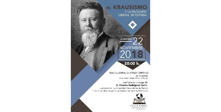 Conferencia en la Fundación CAM El krausismo y la filosofía liberal en España
