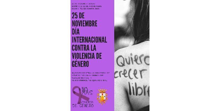 Acto contra la violencia de género el próximo domingo en Monforte del Cid
