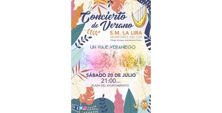 Concierto de Verano de la S. M. La Lira: «Un viaje veraniego»