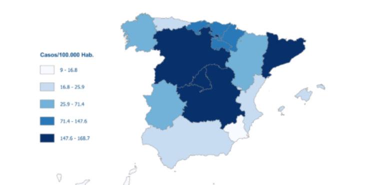 Los fallecidos con coronavirus en España caen hasta 268 en las últimas 24 horas