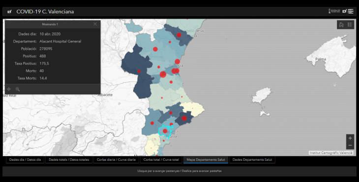Mapa del Coronavirus en Alicante