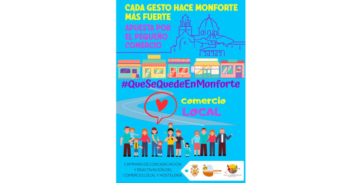 #QueSeQuedeEnMonforte: a por la recuperación del comercio local
